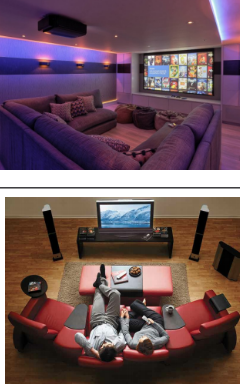 Relax in your own home theater