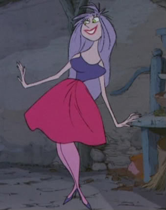 """This woman in Walt Disney's """"The Sword in the Stone"""" looked very familiar. Was Milt Kahl """"inspired"""" by the cute redhead upstairs in Disney's layout department?"""