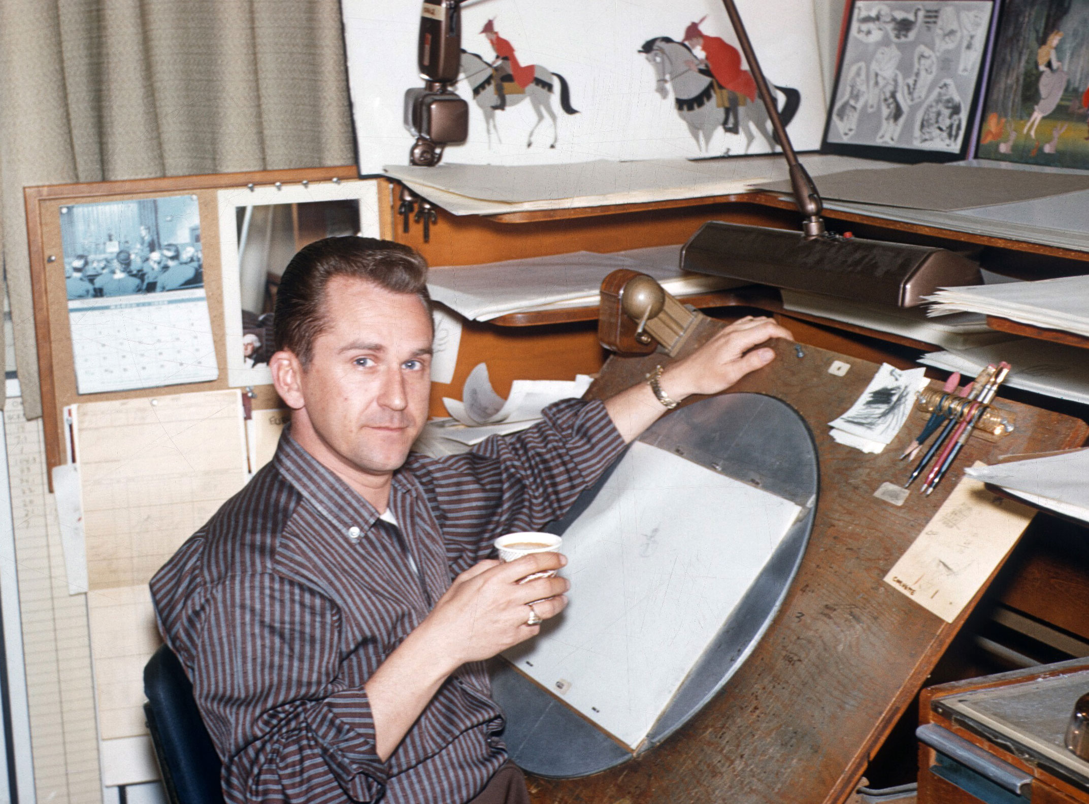 It's 1957 and we're hard at work on Walt Disney's Sleeping Beauty. Bob Ogle joined us after a stint in Disney's story department. Thankfully, there were more writing opportunities ahead.