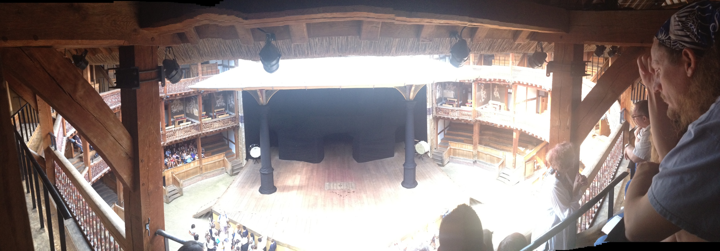 Panoramic photo inside the Globe Theatre!!!
