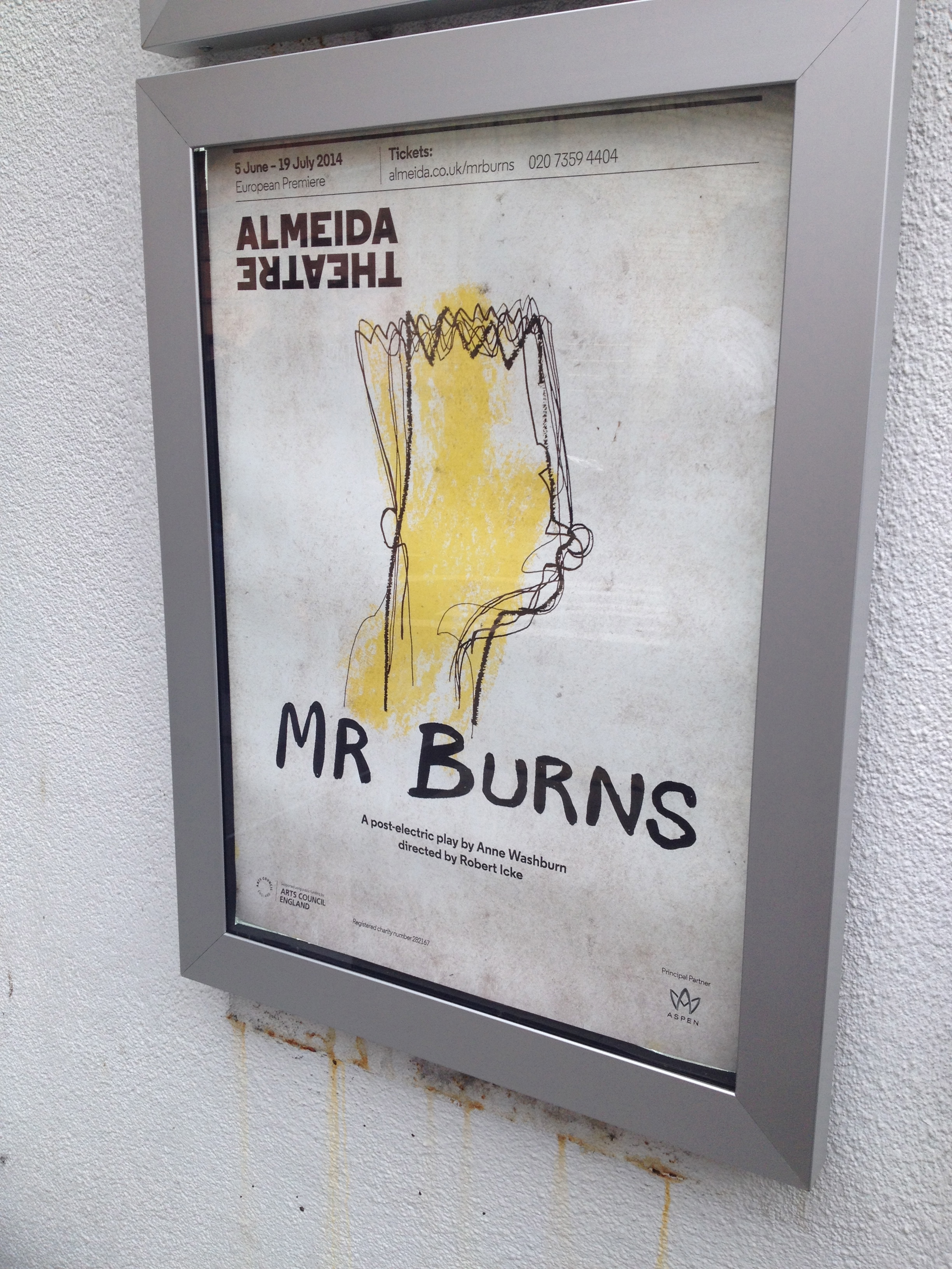 Show poster for Mr. Burns!