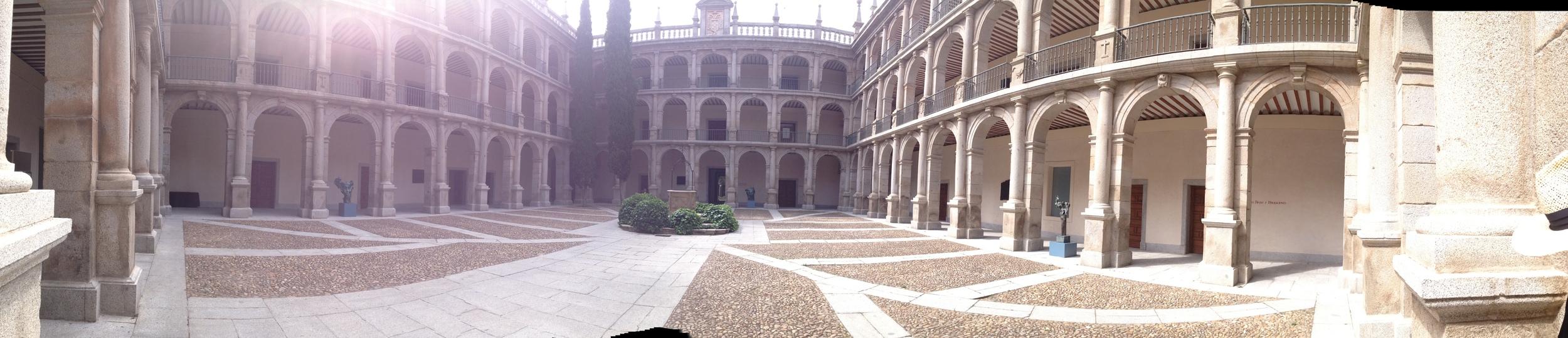 Inside the Universidad de Alcalá in Alcalá de Henares, Spain.