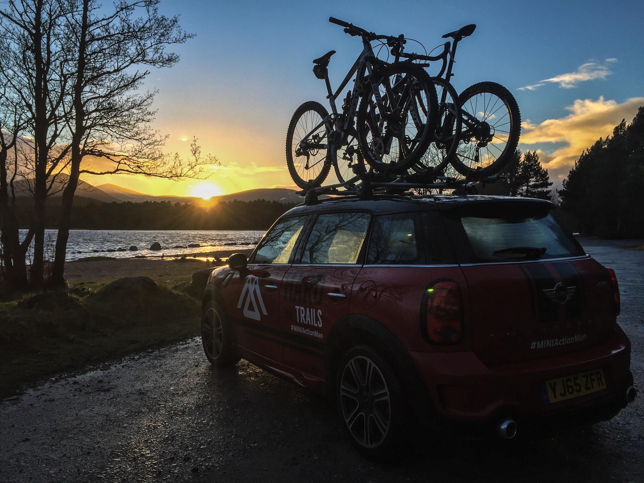 Great British MINI Adventure Day 5 - Loch Morlich Sunset, Cairngorms