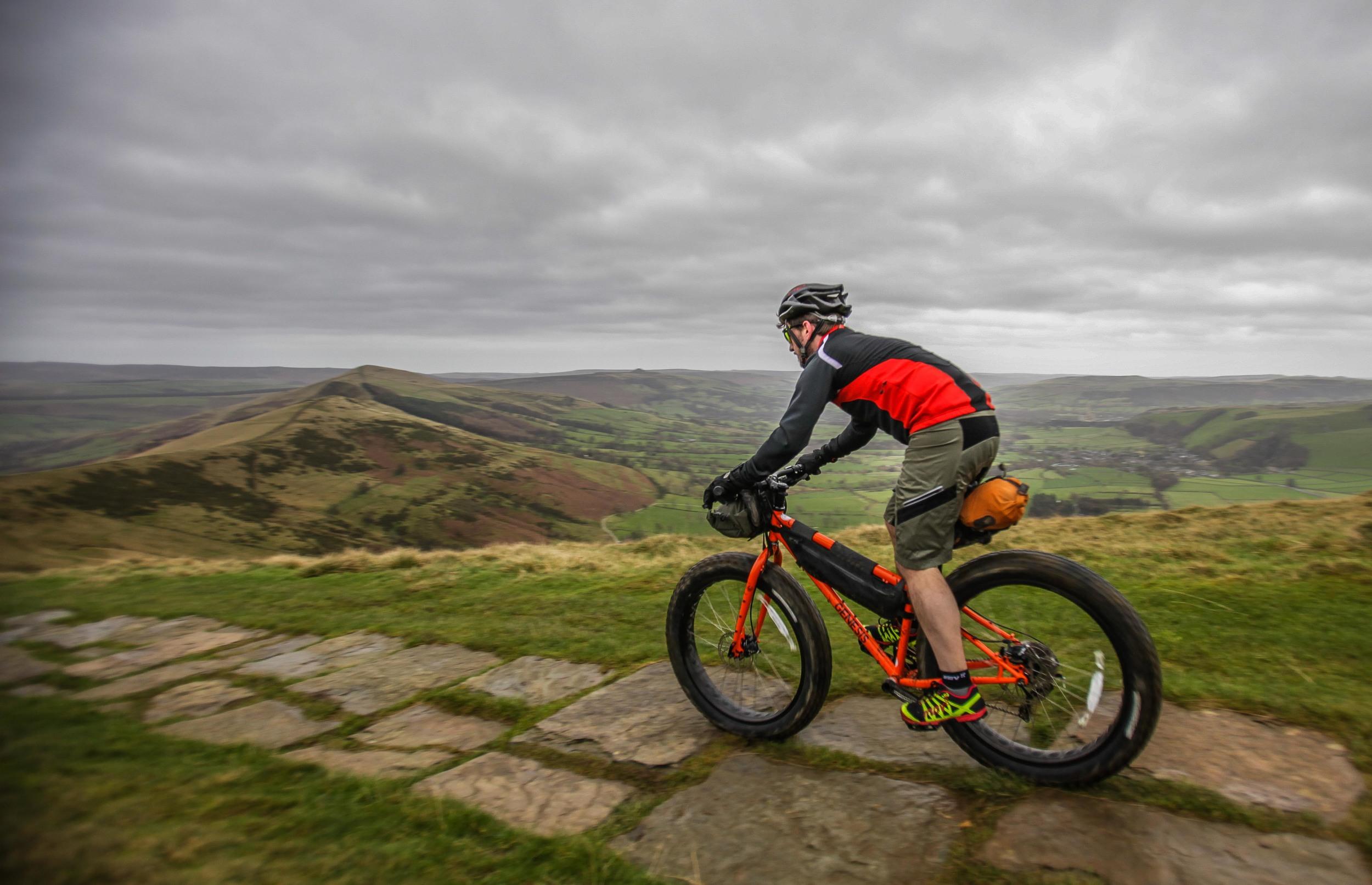 Great British MINI Adventure Day 2 - Fat Biking around Mam Tor in the Peak District