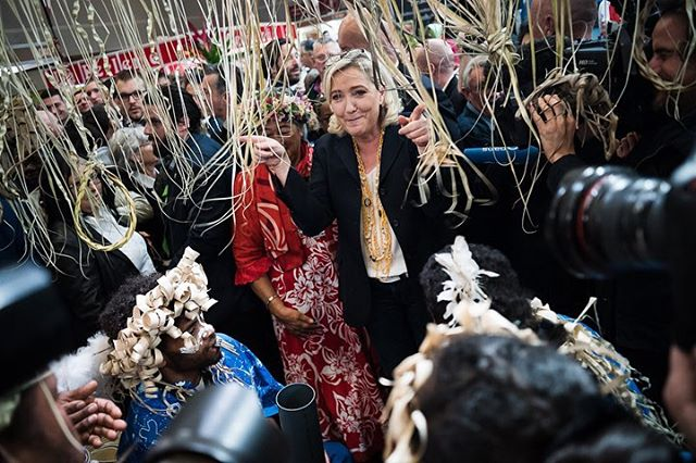 Paris, France le 28 février 2019 - La Présidente du Rassemblement national, Marine Le Pen visite le Salon International de l'Agriculture 2019 à la Porte de Versailles.  #Photojournalisme #Politique #Politics #Leica #M10 #Elmarit28 @leicacamerafrance #leicacamerafrance #SIA2019