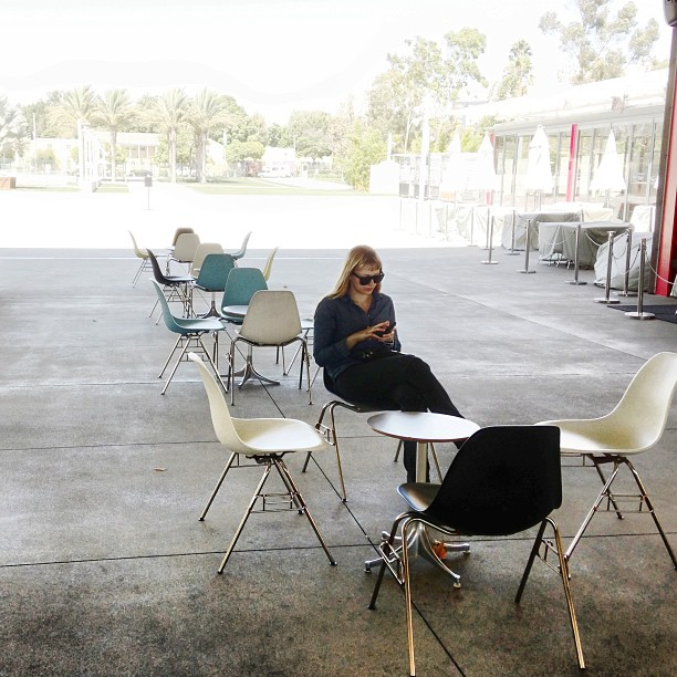 A litte pre-pro for Boston on the Eames chairs at LACMA.