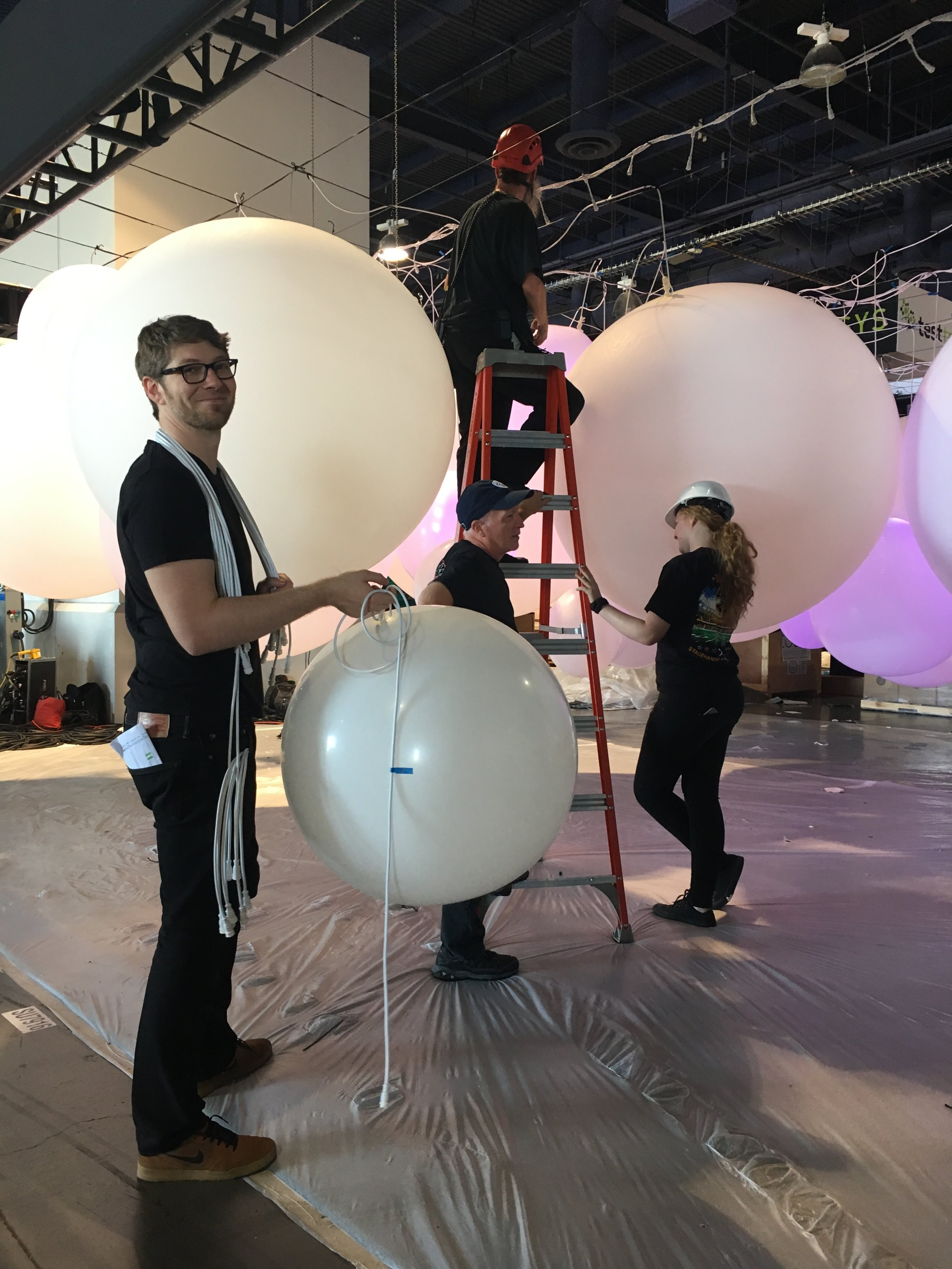David teeing up the next balloon for universe 3.