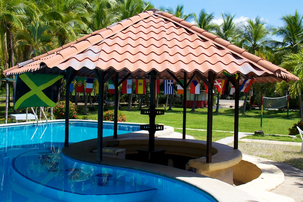 Pool area at Pure Vibes