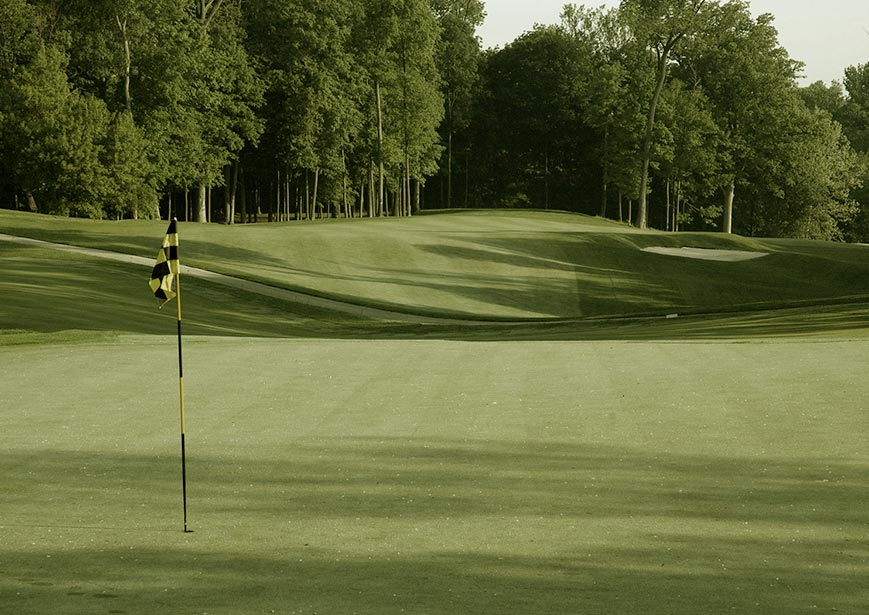 Golf Hole #11 at Fort Harrison Golf Course, Indianapolis, Indiana (Photo by Pete Dye Golf Trail)