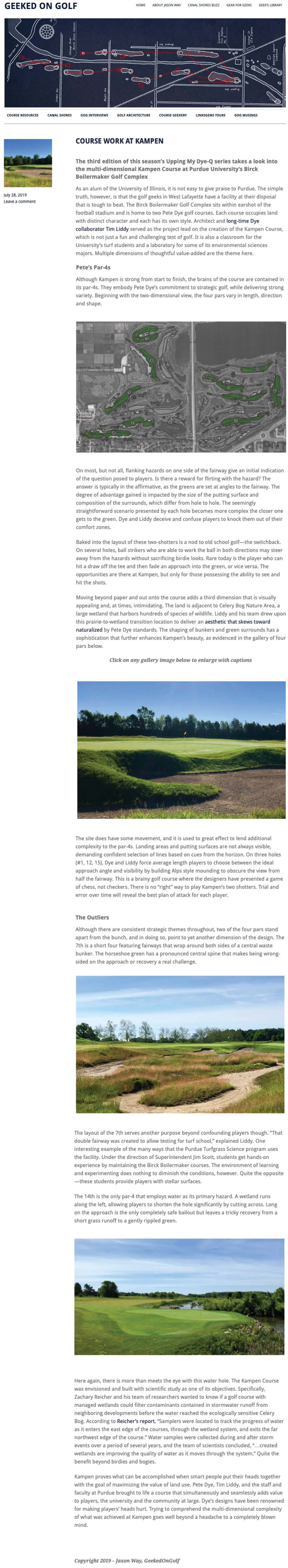 Journal — Member, American Society of Golf Course Architects