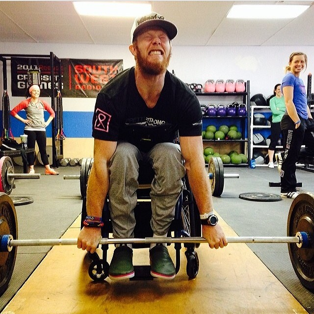 Some call it bravery, others foolhardiness. More likely, it's a bit of both. Kevin Ogar, returning from injury sustained while doing Crossfit.