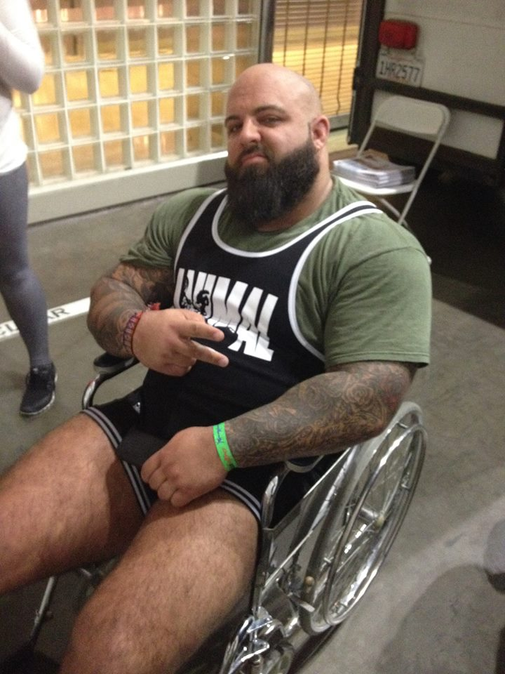Another guy in a wheelchair, but this time Crossfit didn't put him there.