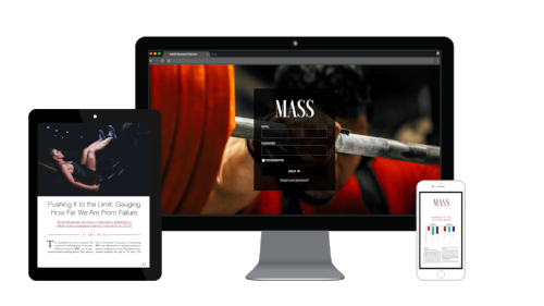 MASS (Monthly Applications in Strength Sport) - Image from the  MASS page.