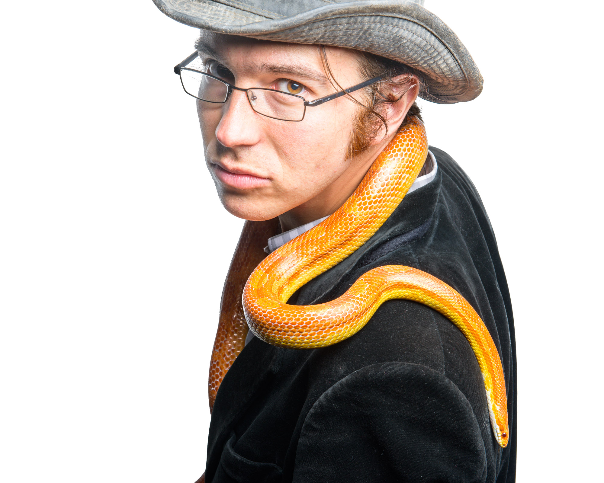 Self Portrait with Snake