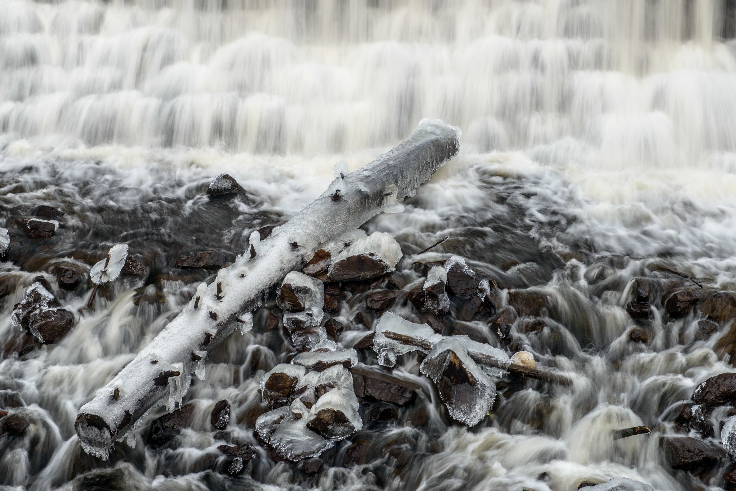 Waterfall in February