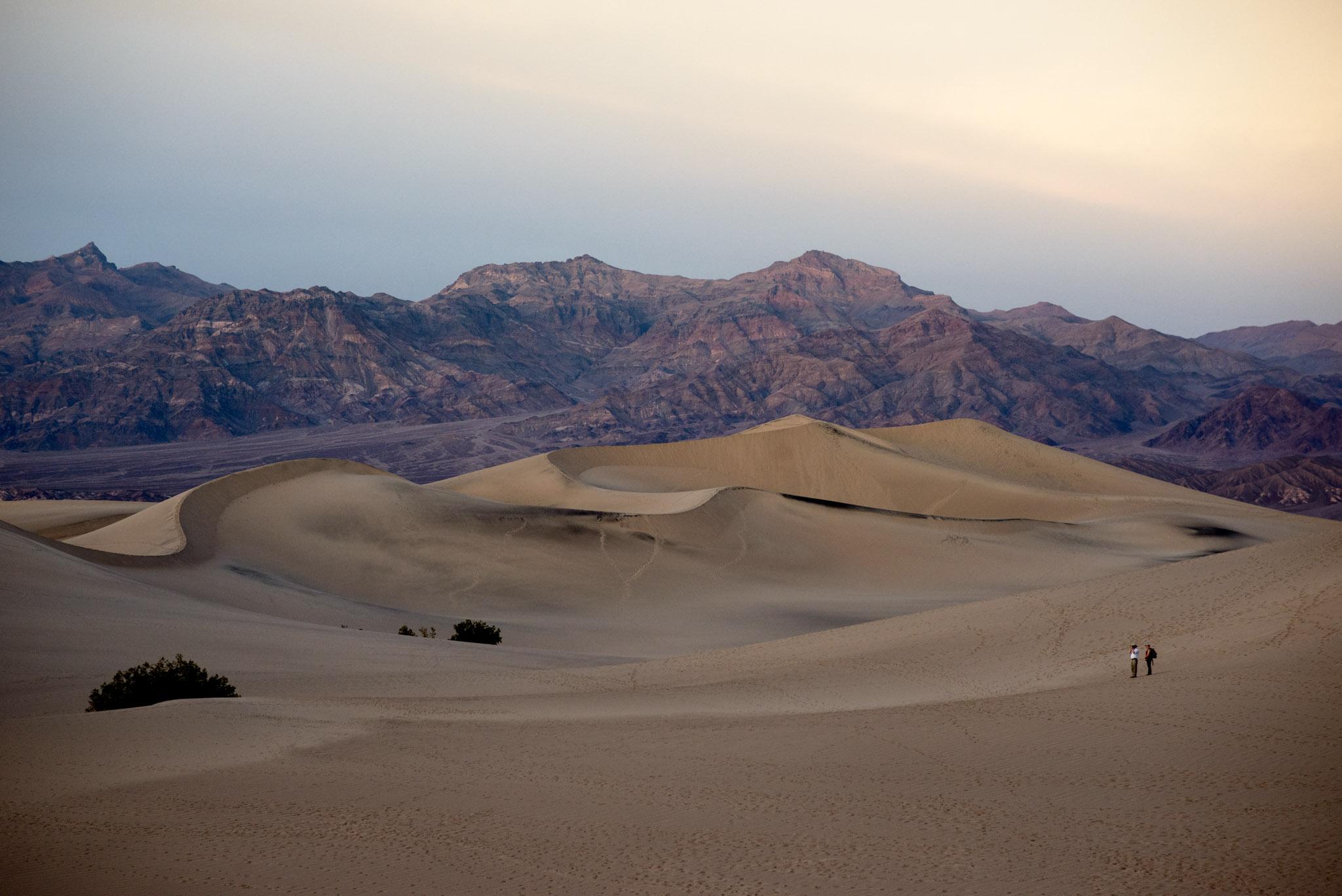 Tourists at Mesquite Dunes