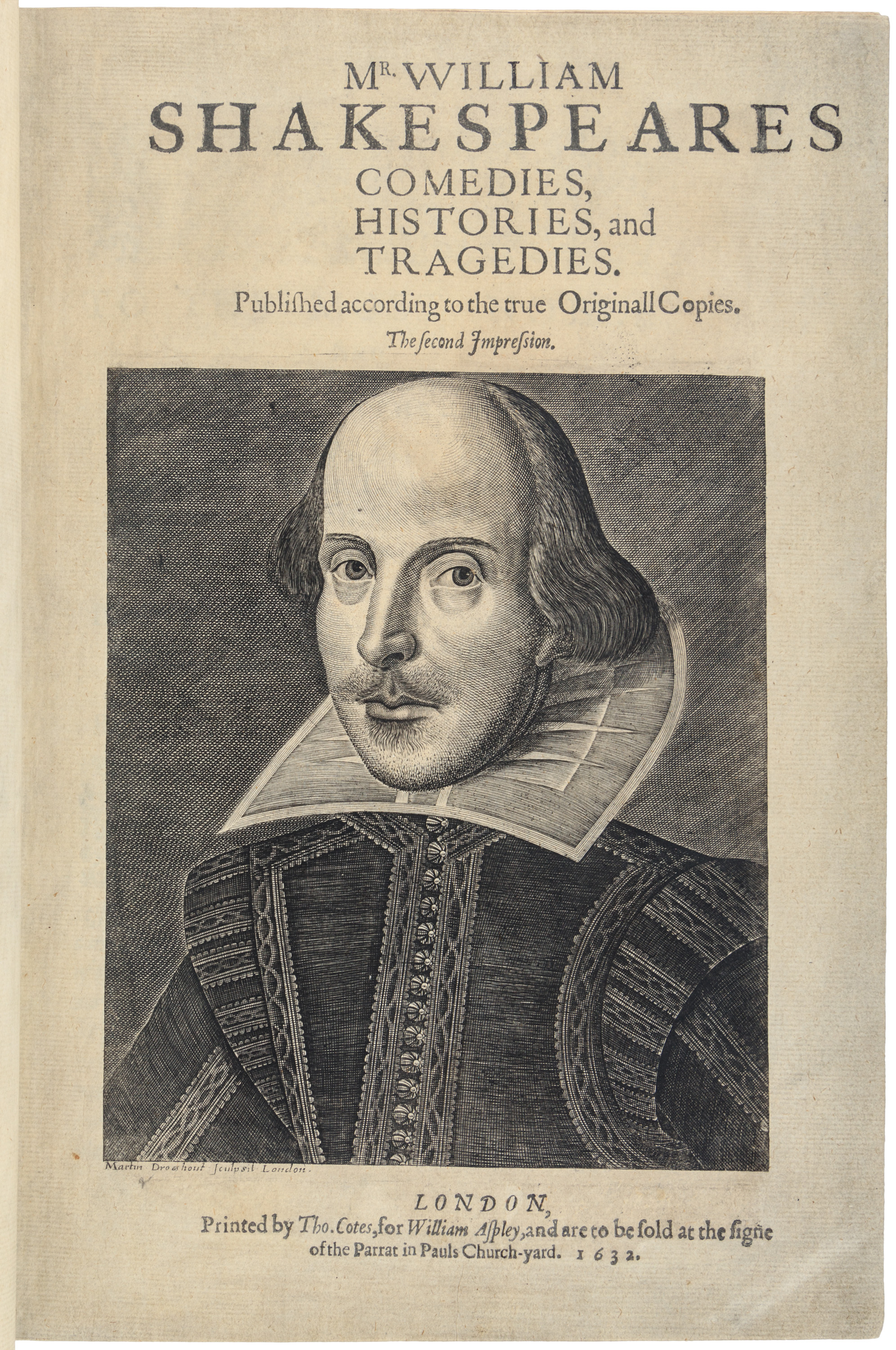 Mr William Shakespeares Comedies, Histories, and Tragedies...The Second Impression