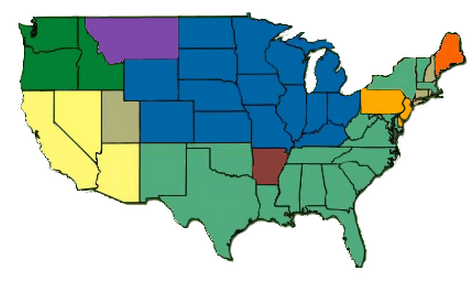 >> Click on the map to learn more about pesticide container recycling opportunities in your area