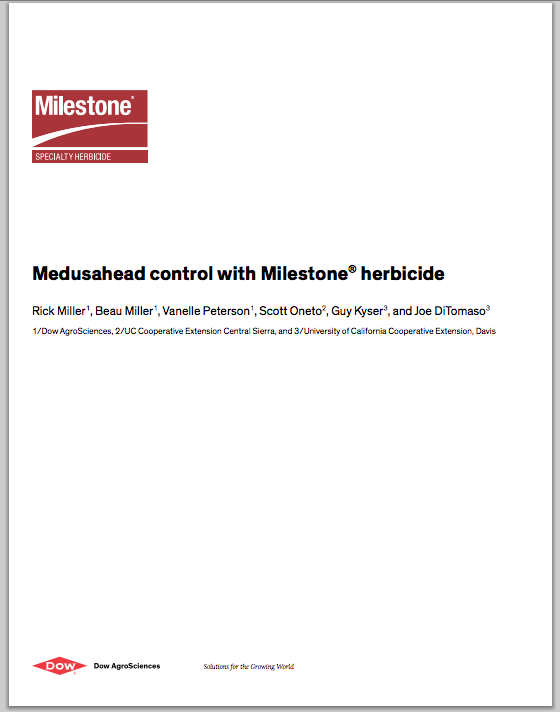 Medusahead control with Milestone® herbicide