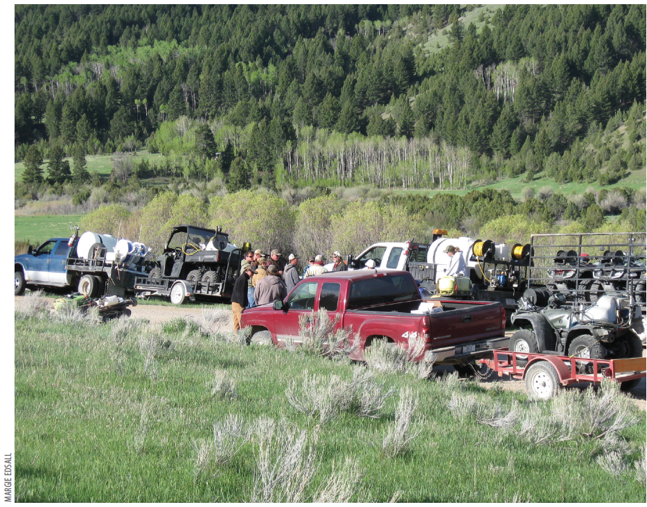 Volunteers.  More than 15 ranchers, volunteer commercial applicators and partner agencies dedicate time and resources to controlling weeds in the Upper Ruby Watershed Cooperative Weed Management Area.