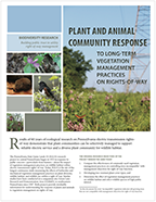 Plant and animal Community response to Vegetation Management Practices on Rights-of-way