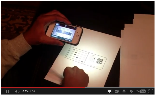 QR code to capture an experiences in a learning record store.