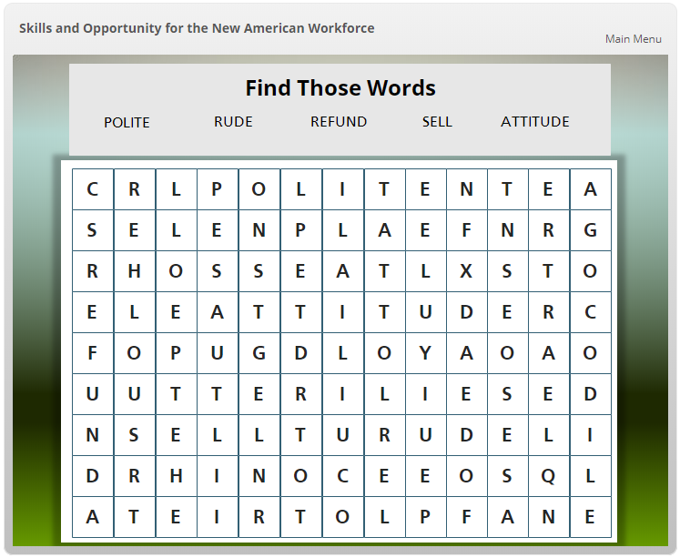 Wordsearch Demo
