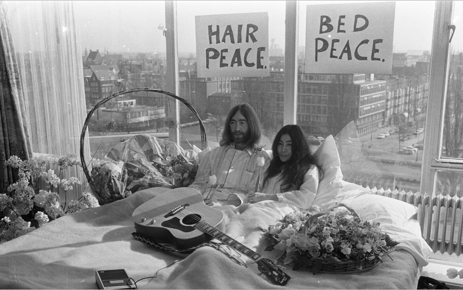 GROUND BREAKING SERIES '702' - '702' pays tribute to John Lennon and Yoko Ono's Bed In for Peace. Meredith's series is inspired by the room's spirit, as personified through Hilton team members who bring that spirit to life today.