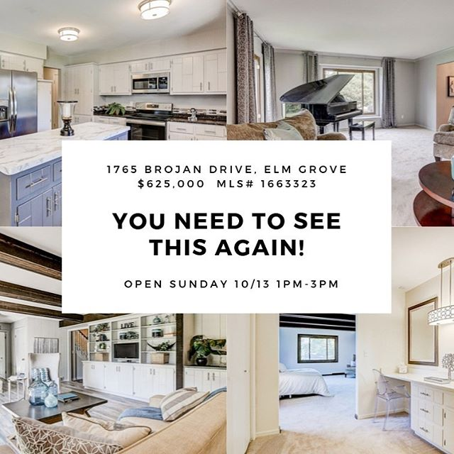 Come see this updated Elm Grove Home this Sunday 10/13 1-3pm. Newly installed Granite and Quartz Counters with new under-mount sinks in all baths and Kitchen. This 5 BR / 2.5 Bath spacious home sits on a level 1 ac lot with a new full basketball court. Home has all newer windows in last 2 yearsand all and all mechanicals in last 3 years. A whole home back up generator comes with. #openhouse #elmgrove #homeforsale #househunting #neighborhood #locationlocationlocation