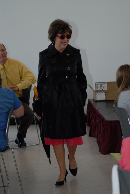Volunteer Jackie Wilson is weather ready.