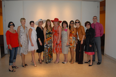 Our models - present board members, volunteers, and students.