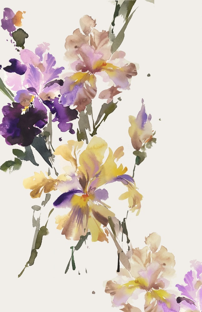 The gorgeous work of  Helen Dealtry , who will be teaching the painting portion of the Iris study.