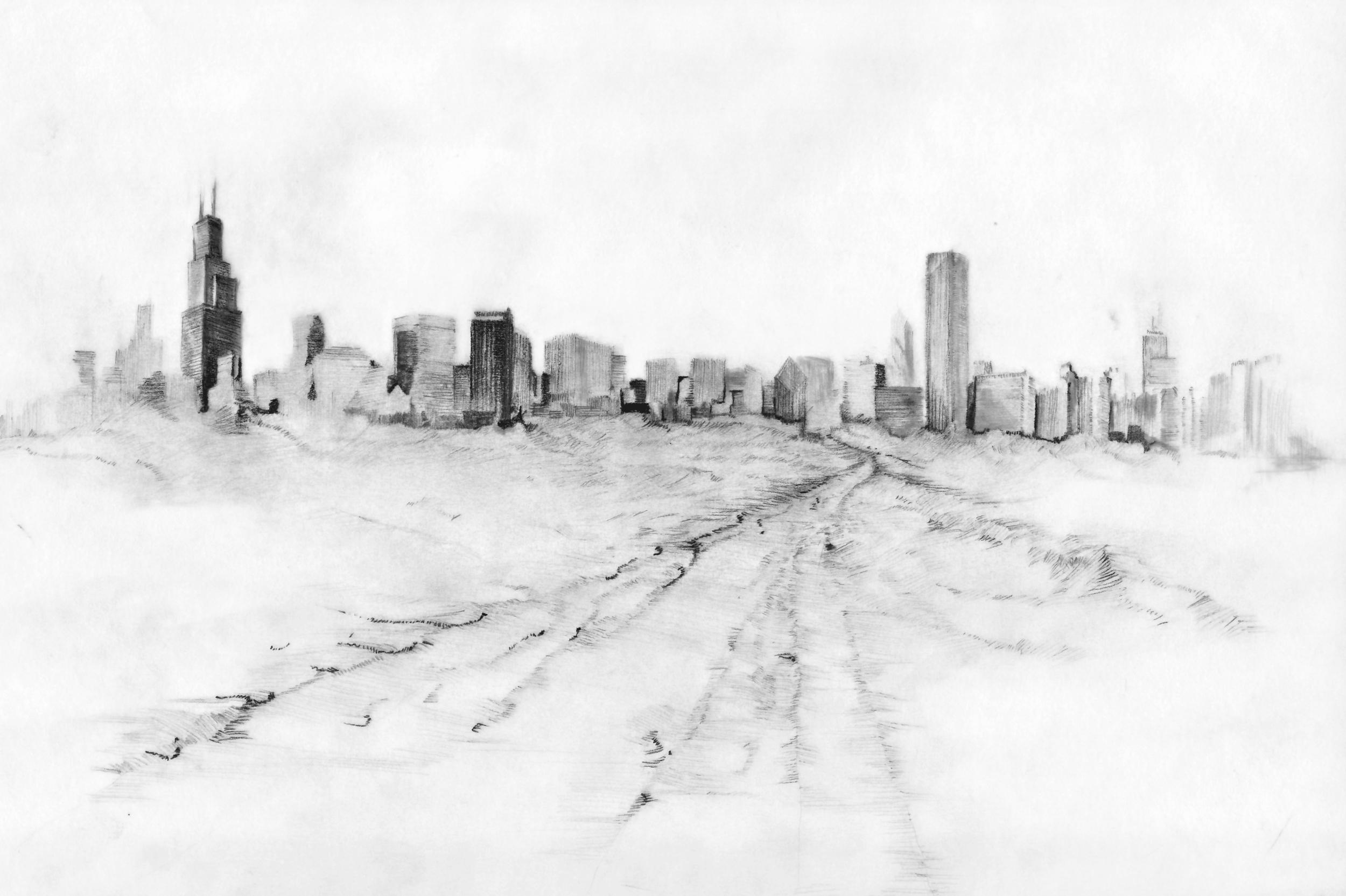 Day 21 Chicago Skyline from Mileh Tharthar iraq