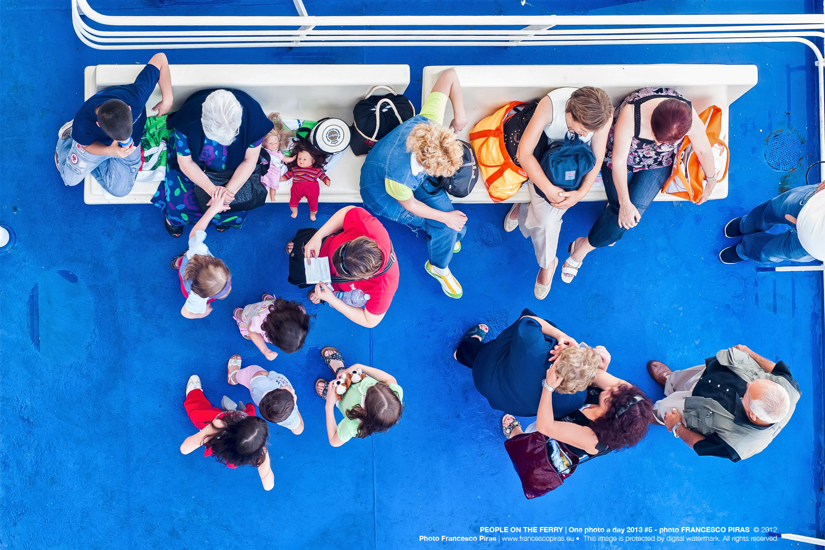 PEOPLE ON THE FERRY | One photo a day 2013 #5 - photo FRANCESCO PIRAS  © 2012. Photo Francesco Piras | www.francescopiras.eu •  This image is protected by digital watermark. All rights reserved.
