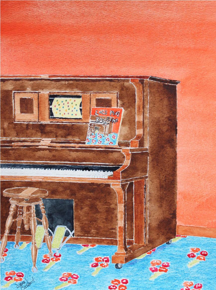 Painting by Diana Ballard  (watercolor)