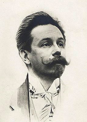 Alexander Scriabin (1872-1915), a Russian pianist and composer who made interesting assertions that the key relationships through the circle of fifths also follow a color spectrum.  For example, the key of C is red, G is orange, D is yellow, A is green, etc.