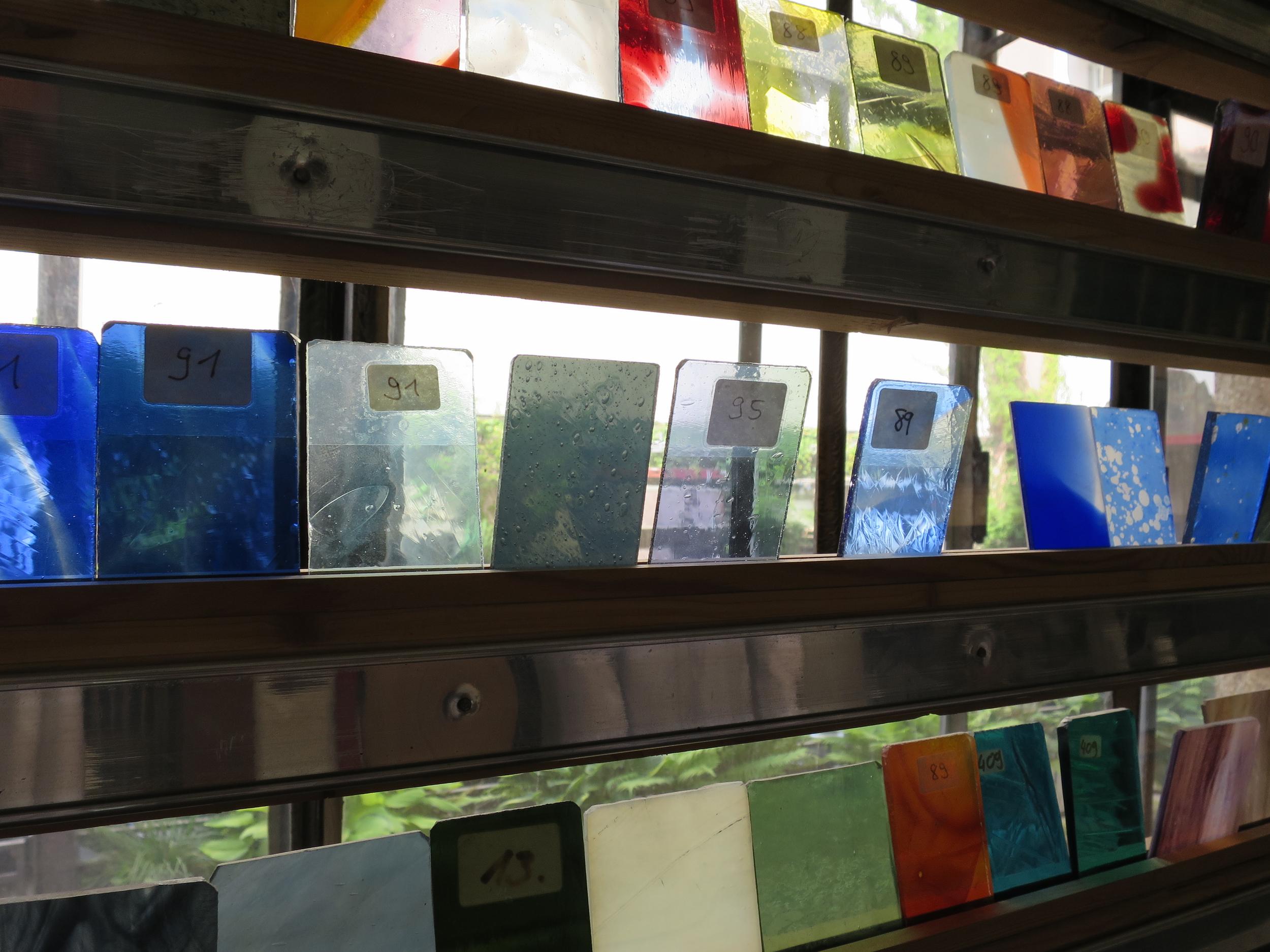 hand-blown glass samples