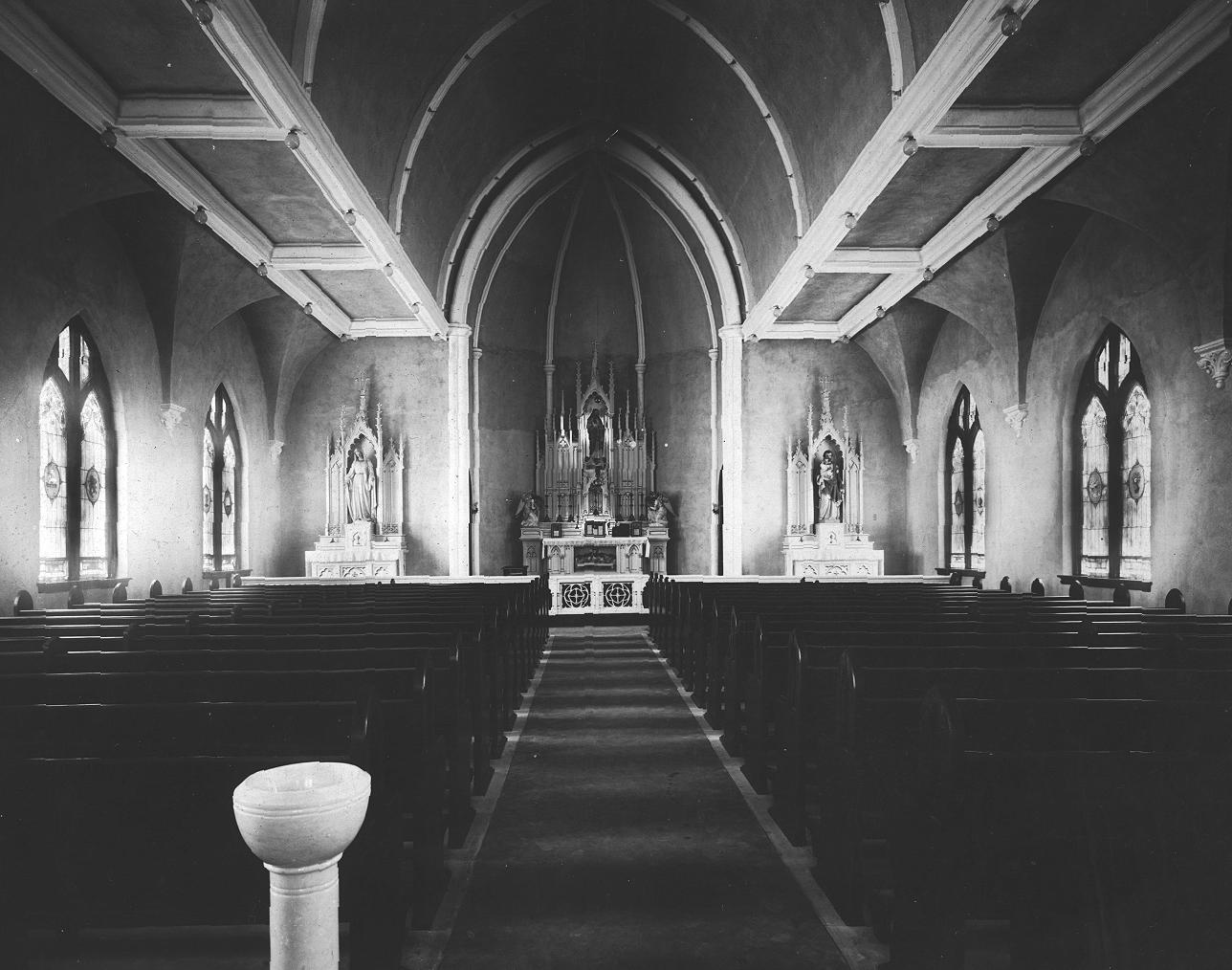 Church Interior at Dedication, 1921
