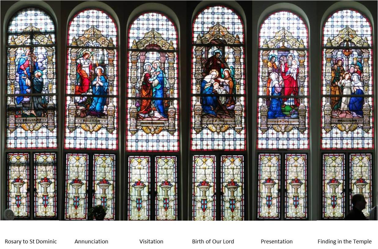 historic Emil Frei windows to be installed in the nave of the church