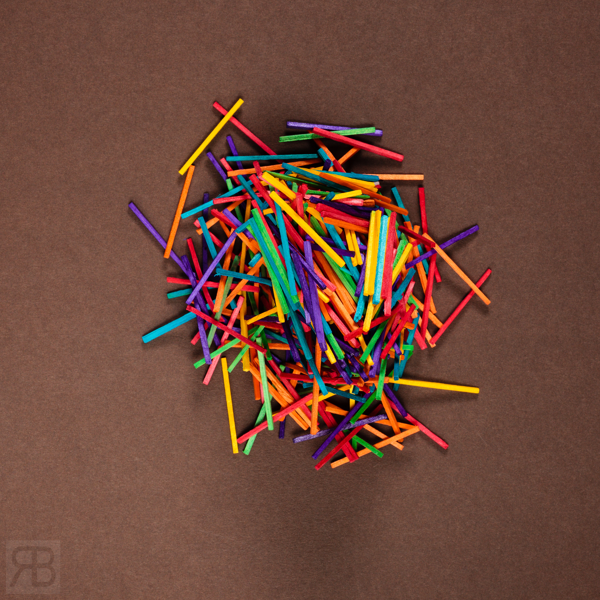 Coloured Matchsticks - Still Life