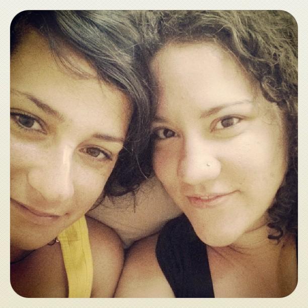 Anju (L) and I