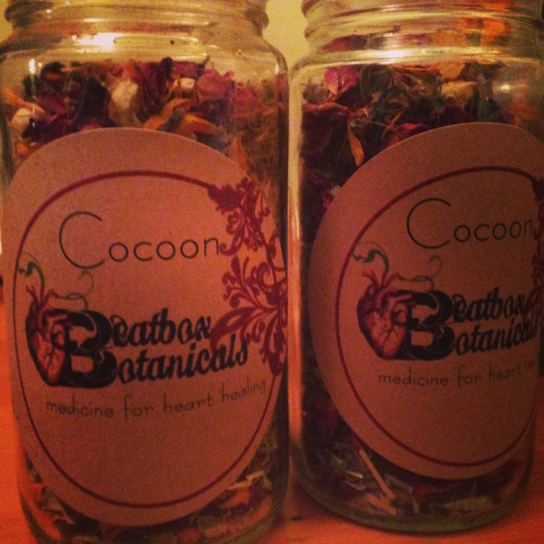 """""""Cocoon"""" bath tea, $15-$20"""