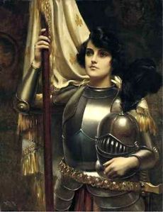 Joan of Arc ready to moderate comments like a badass!