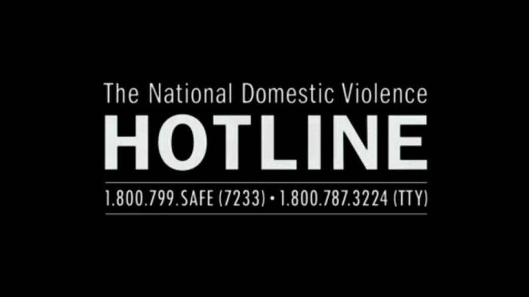 """[feature image shows black backgrounds with white text that says: """"The National Domestic Violence Hotline: 1.800.799.SAFE (7233); 1.800.787.3224 (TTY)""""    via   ]"""