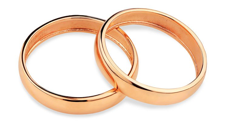[feature image of 2 gold rings intertwined    via   ]
