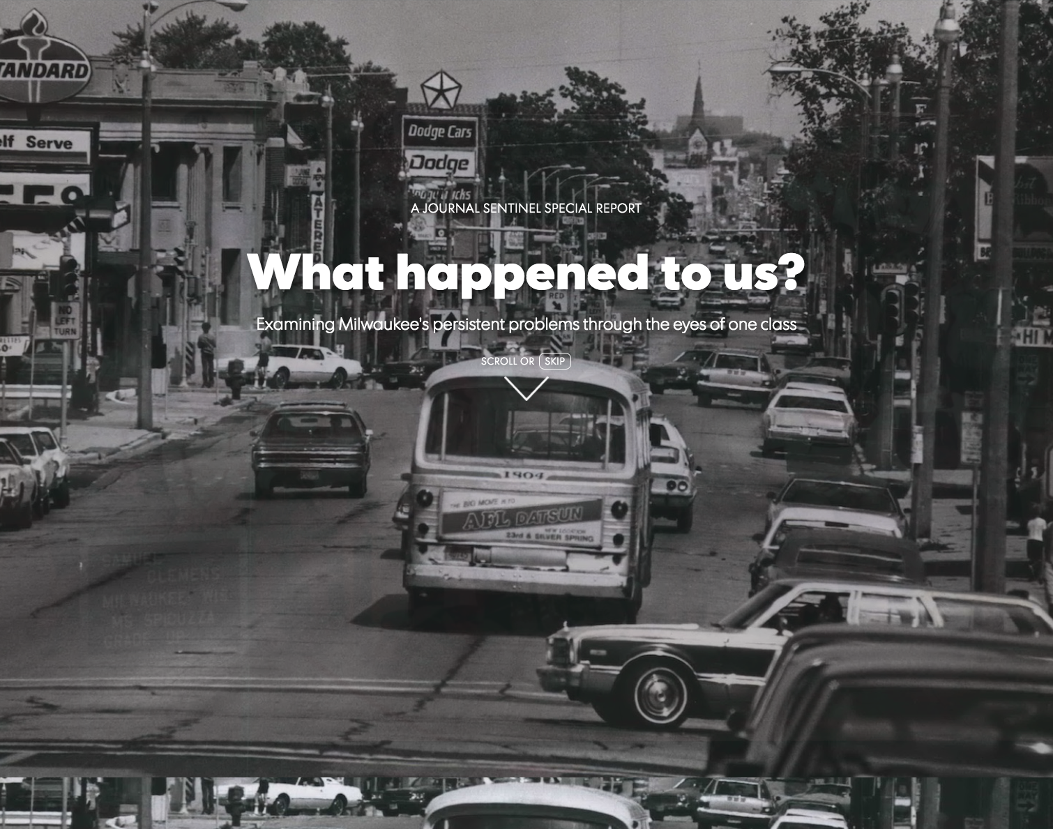 What happened to us? - Examining Milwaukee's persistent problems through the eyes of one classROLE: Introduction development contributions, series design and production