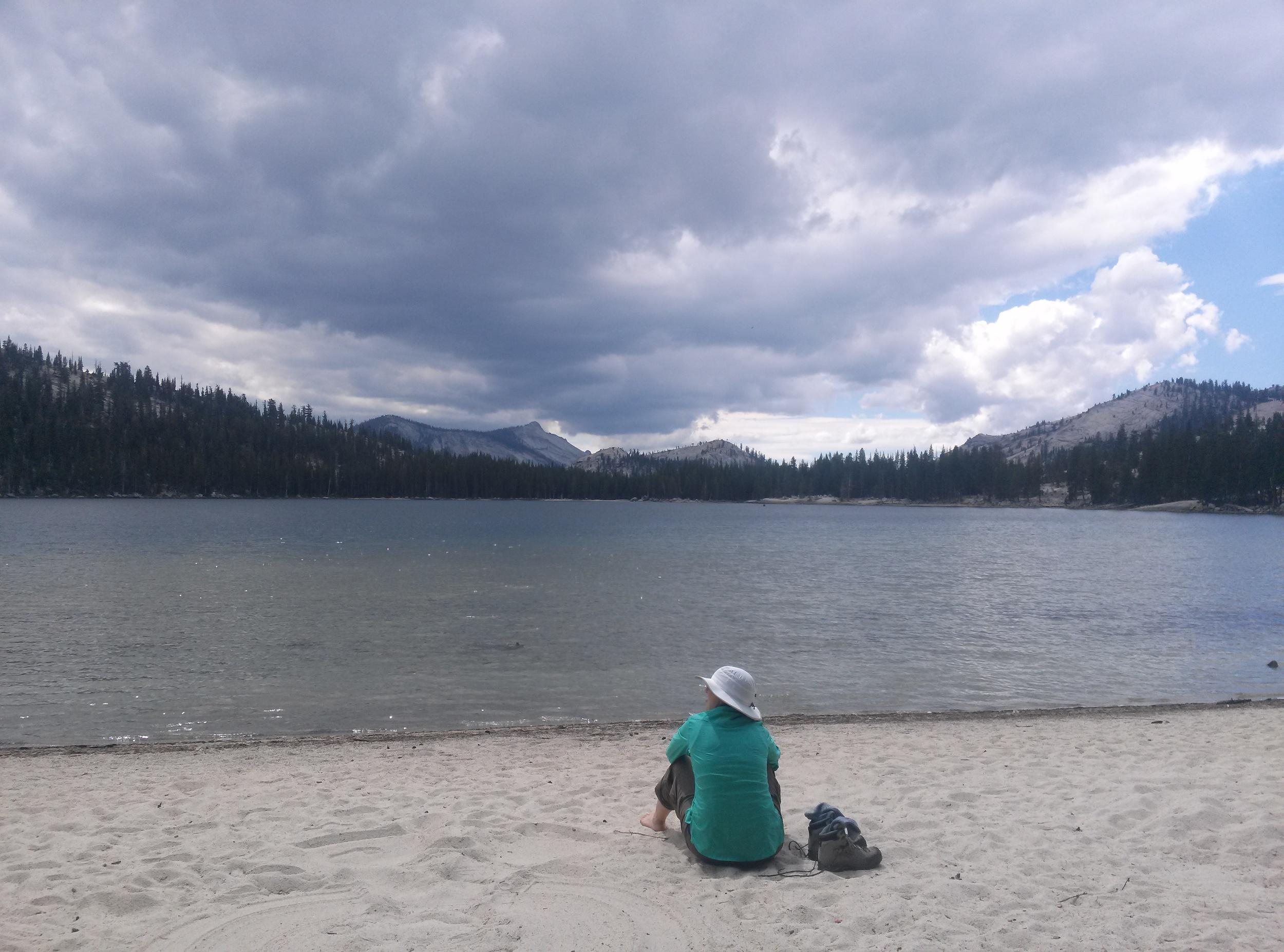 Lindsey at Tenaya Lake