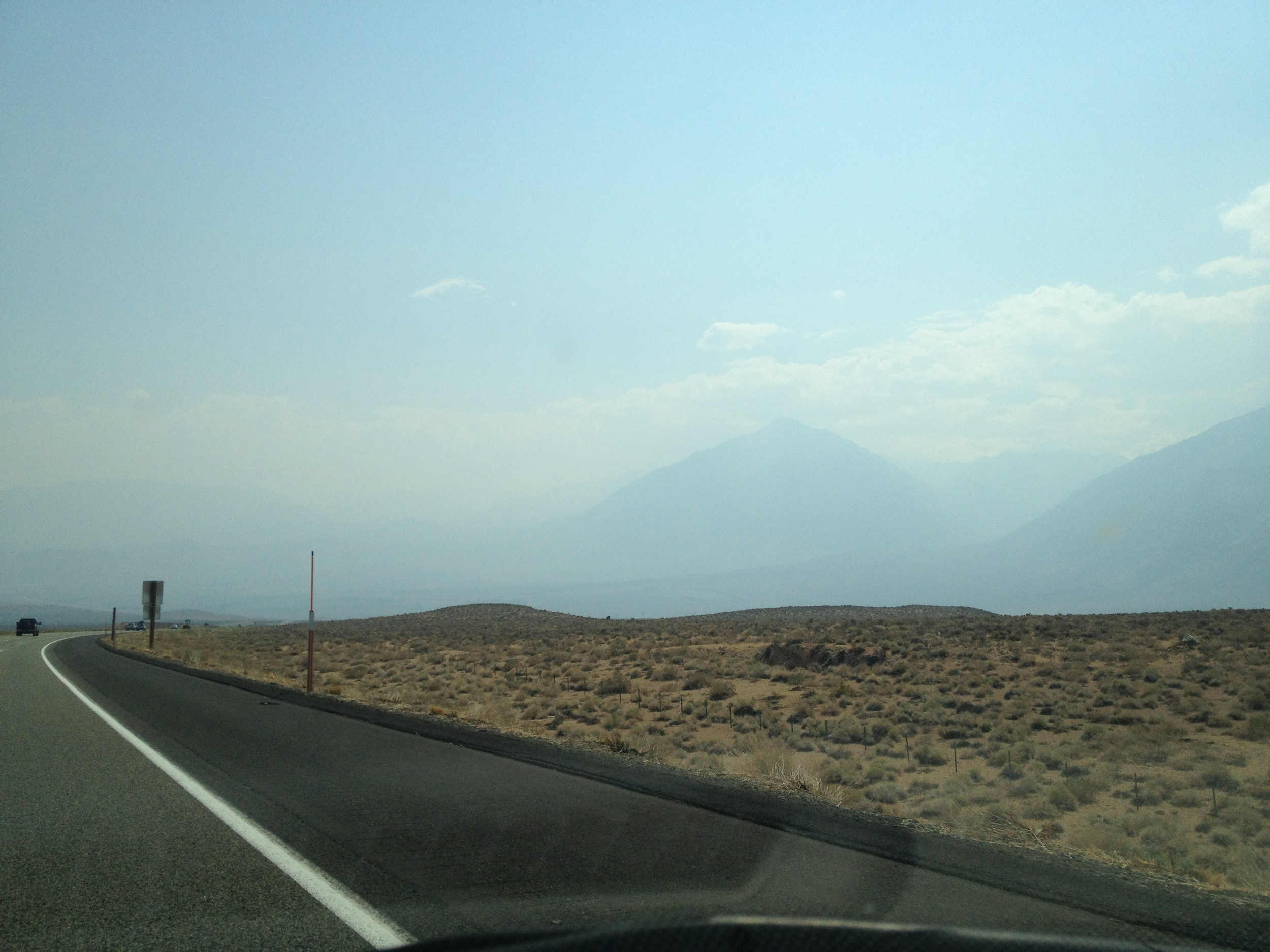 Smoke on the Eastern side of the Sierra Nevada