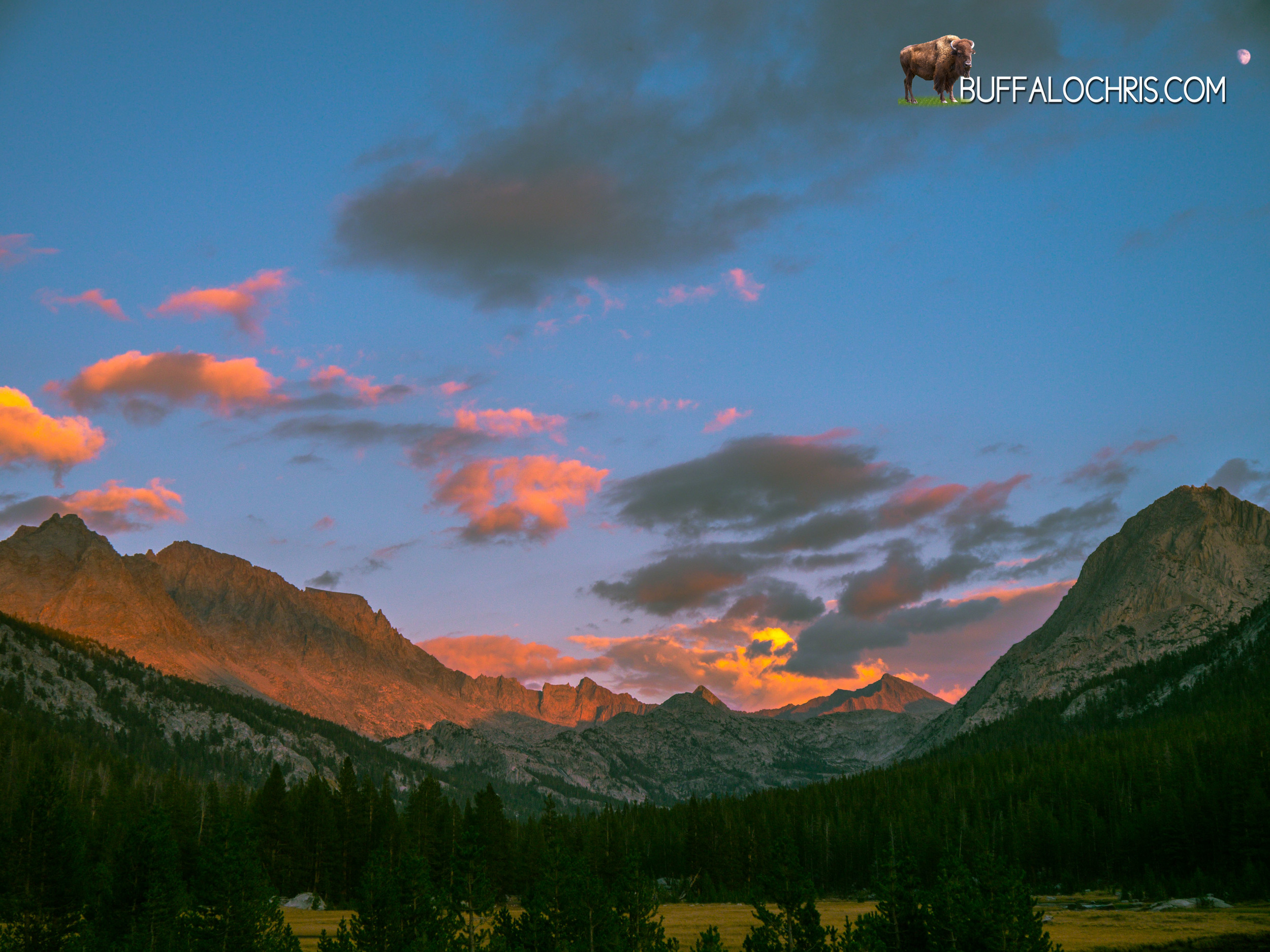 Sunset in McClure Meadow