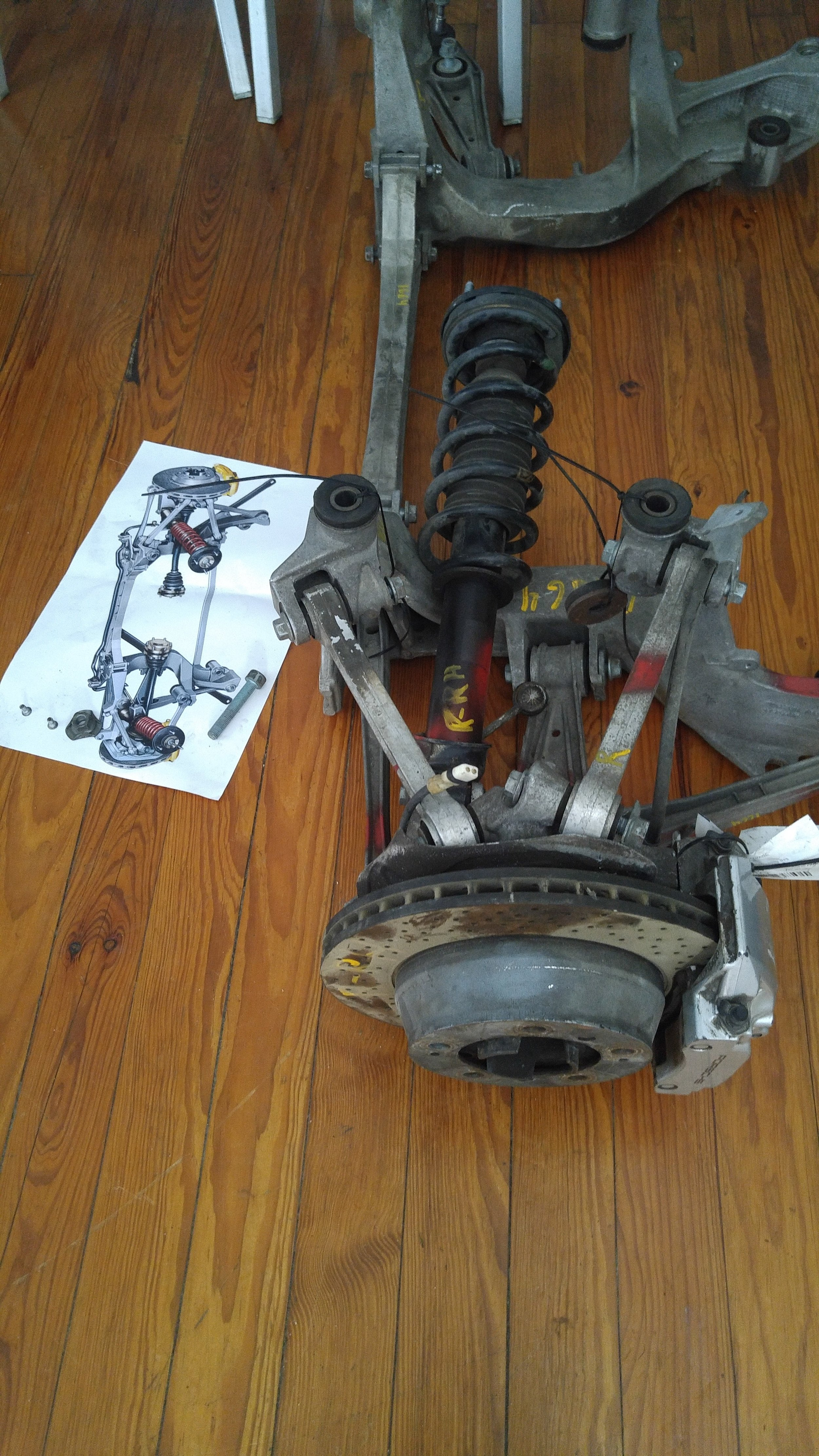 Rear subframe without spacers